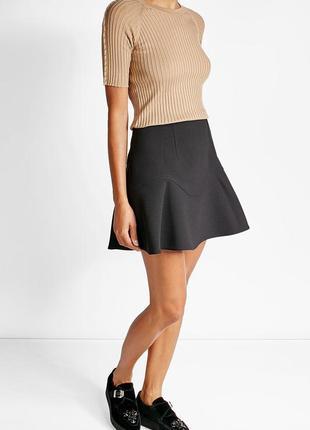 Обнова! юбка серая годе шерсть теплая качество luxury