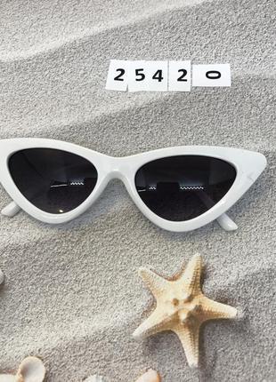 Уценка! белые ретро очки солнцезащитные 2532