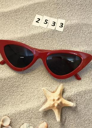 Модные красные ретро-очки 2533
