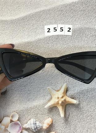 Стильные чёрные ретро очки 2552