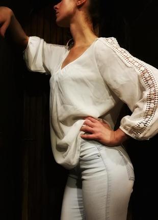 Стильная блузка wallis с кружевом ажурная рубашка