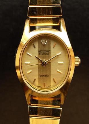 Nelsonic diamond винтажные часы из сша мех. japan morioka tokei
