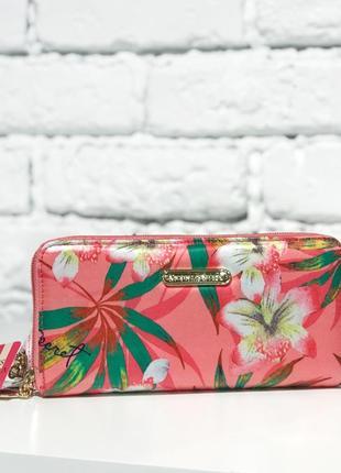Яркий кошелёк с тропическим принтом