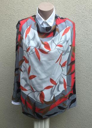 Большой,шелковый платок,косынка ,шелк100%,anne klein