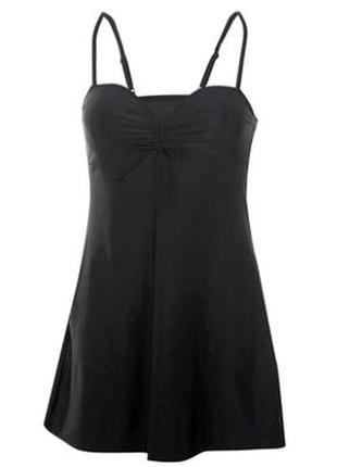 Новенькое стильное купальное платье с поролоновыми чашечками на косточках