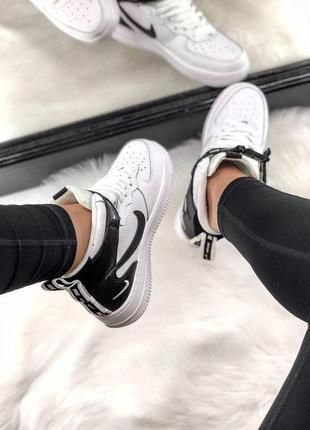 Шикарные женские кроссовки nike air force 1 high white 😍 (весна/ лето/ осень)2 фото