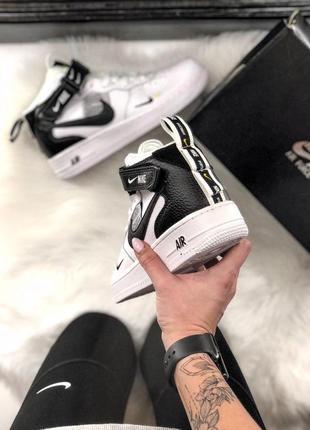 Шикарные женские кроссовки nike air force 1 high white 😍 (весна/ лето/ осень)3 фото