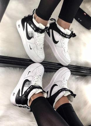 Шикарные женские кроссовки nike air force 1 high white 😍 (весна/ лето/ осень)6 фото