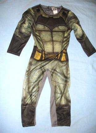 Костюм наряд бетмена на 3-4 года рост 104-110 см сдельный супергерой для мальчика