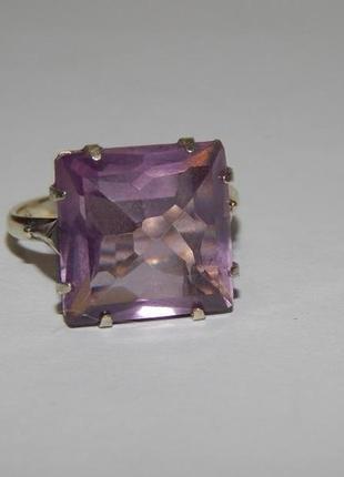 Кольцо ссср, серебро 875 проба, звезда, лавандовый кварц