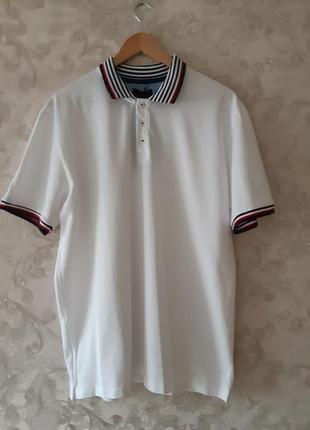 Белое поло zara , белая мужская футболка zara, тениска zara!