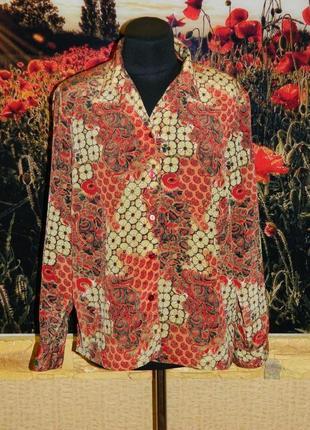 Блуза красная с оранжевым размер 52-54 donnkenny petite.