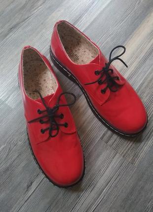 Стильные туфли оксфорды броги дерби на подошве