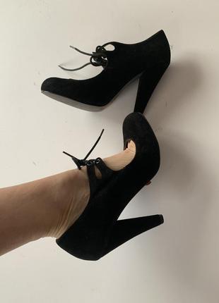 Замшевые туфли стелька 25,5 см