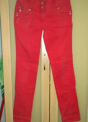Трендовые джинсы кораллового цвета pimkie2