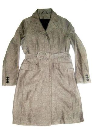 Пальто в мелкую полосочку french connection, 100% virgin wool
