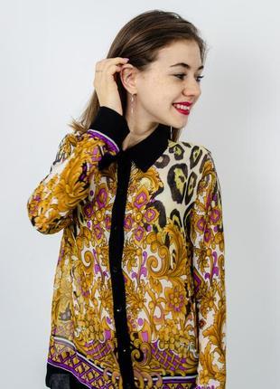 Beloved раскошная шифоновая рубашка со звериным и платочным принтом, блуза с леопардовым