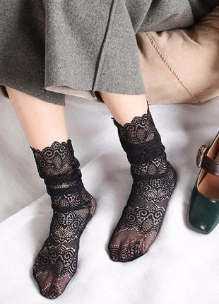 Шикарные кружевные носочки/носки/тренд/новая коллекция