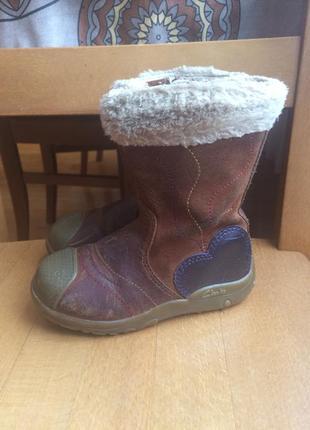 Фирменные демисезонные кожанные ботинки clarks 25-26 р. 15.5 см.