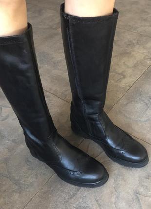 Сапоги кожаные демисезонные итальянские