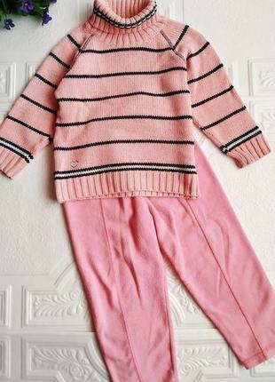 Теплый костюм лютик (свитер и штаны)
