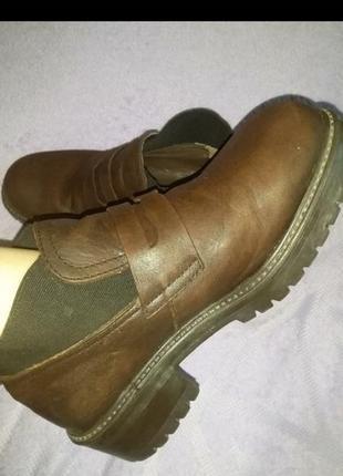 Кожа туфли ботинки на тракторной подошве 0742555b0c3f7