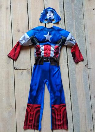 Карнавальный костюм капитан америка 7-8 лет супергерой мстители