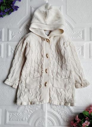 Вязанное демисезонное пальто на флисе early days