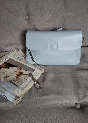 Кожаная сумка love dream с актуальным декором⛓️
