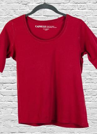 Лонгслив с коротким рукавом, терракотовая футболка женская