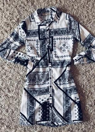 Невероятное платье рубашка с принтом