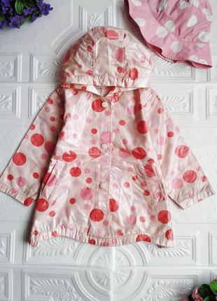 Комплект для прогулок под дождем :) bambini (плащ-дождевик и шляпка)