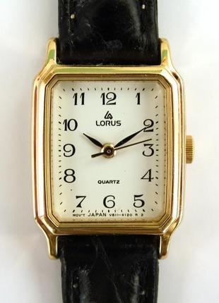 Lorus v811-4120 классические часы от seiko с кожаным ремешком