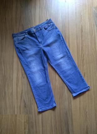 Джинсовые стрейчевые бриджи штаны m s с высокой посадкой 18 рр afb648da996e4