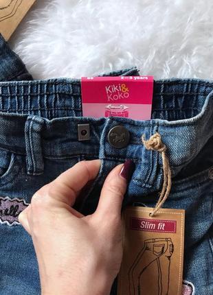 Модные джинсы для девочки с вышивкой10