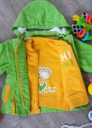 Весняно-літня куртка/реглан 2в1 chicco унісекс