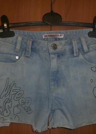 Класснючие джинсовые шорты от freespirit