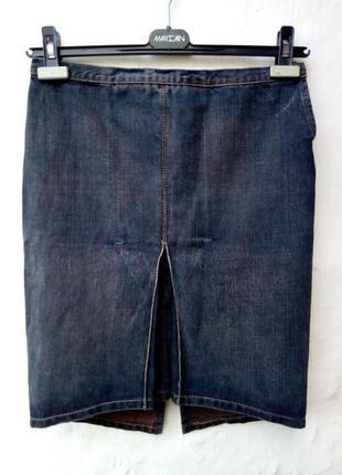 Крутая черная джинсовая юбка с потертостями,люкс бренд,оригинал.