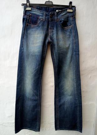 Новые трендовые синие джинсы с потертостями,низкая посадка,люкс бренд,вышевка,брюки.