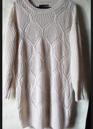 Ажурное платье свитер