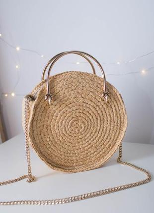 Круглая сумочка манго сумка цепочка