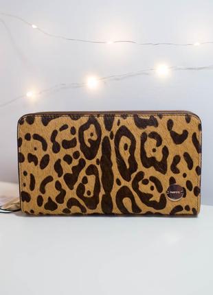 Клатч кошелек гаманець леопард парфоис