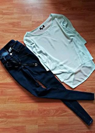 Тонкая актуальная блуза оверсайз bik bok - размер 44-48