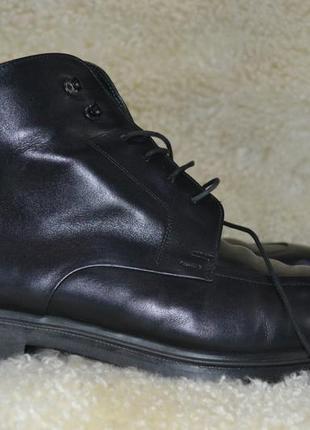 Hugo boss 44.5-45р ботинки кожаные. оригинал. made in italy броги