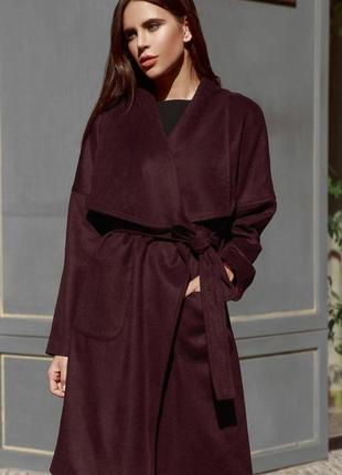 Стильное пальто на запах (реальному покупателю скидка)
