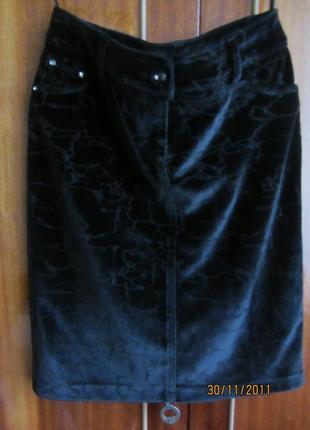 Велюровая. бархатная юбка