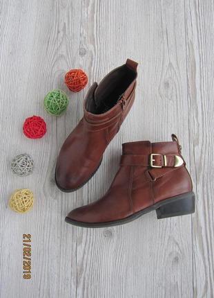Кожаные ботинки с поясками