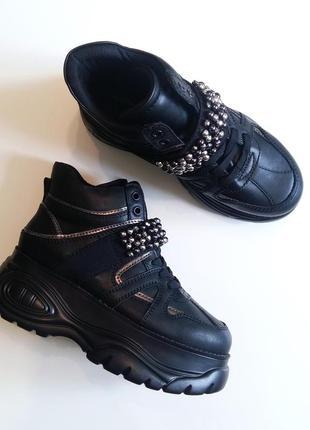 Graceland германия крутые черные ботинки 38 высокая платформа танкетка buffalo кроссовки