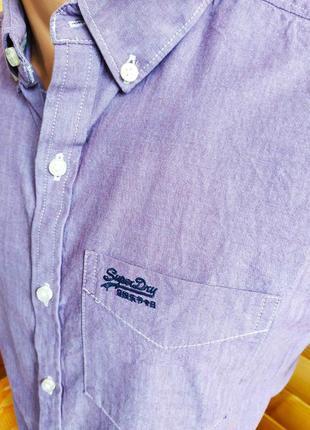 Рубашка с коротким рукавом от syperdry, оригинал, р. m, пр-во индия3