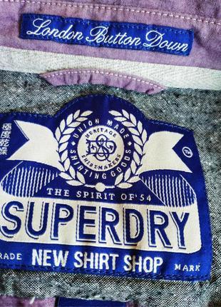 Рубашка с коротким рукавом от syperdry, оригинал, р. m, пр-во индия4